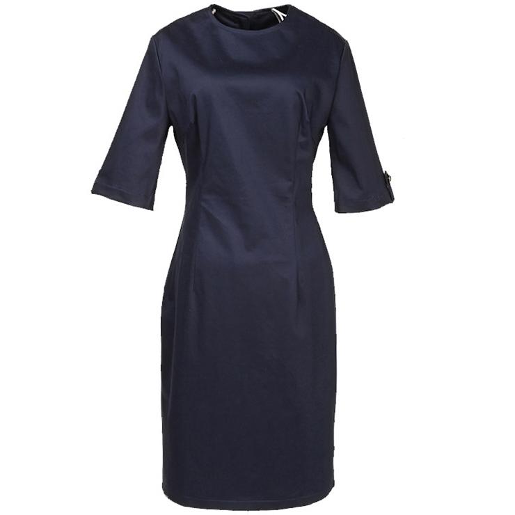 Modest Vintage Ladies Half Sleeve Midi Dress N11939
