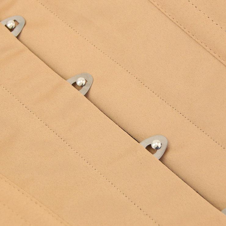 Embroidery Underbust Corset, Steel Bone Waist Training Corset, Steel Boned Cotton Underbust Corset, #N12596