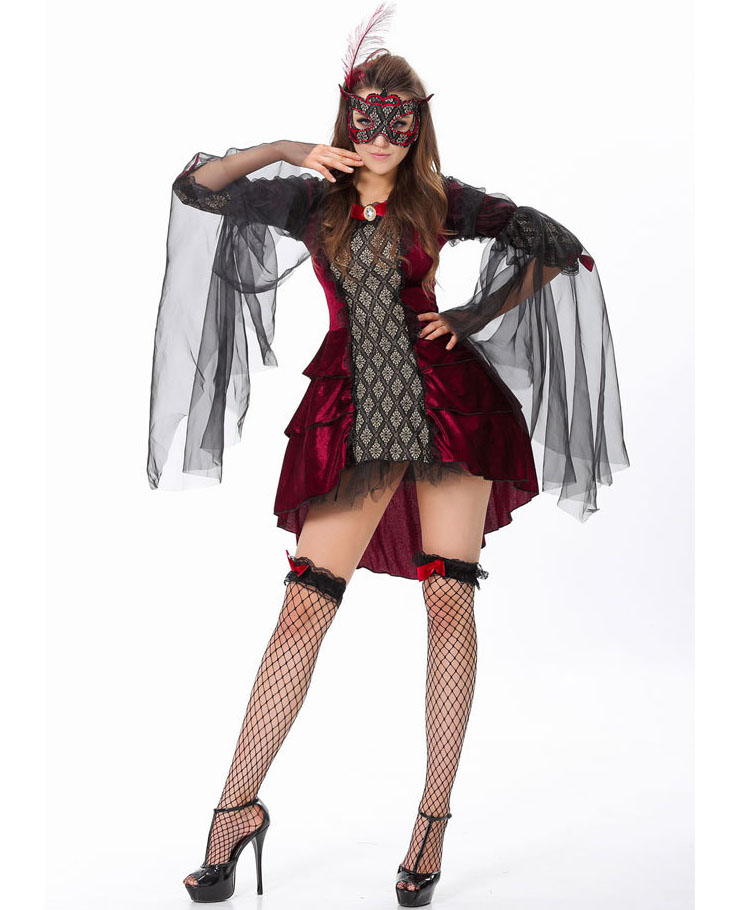mysterious masquerade costume womens masquerade costume red masquerade costume halloween couples costume - Masquerade Costumes Halloween
