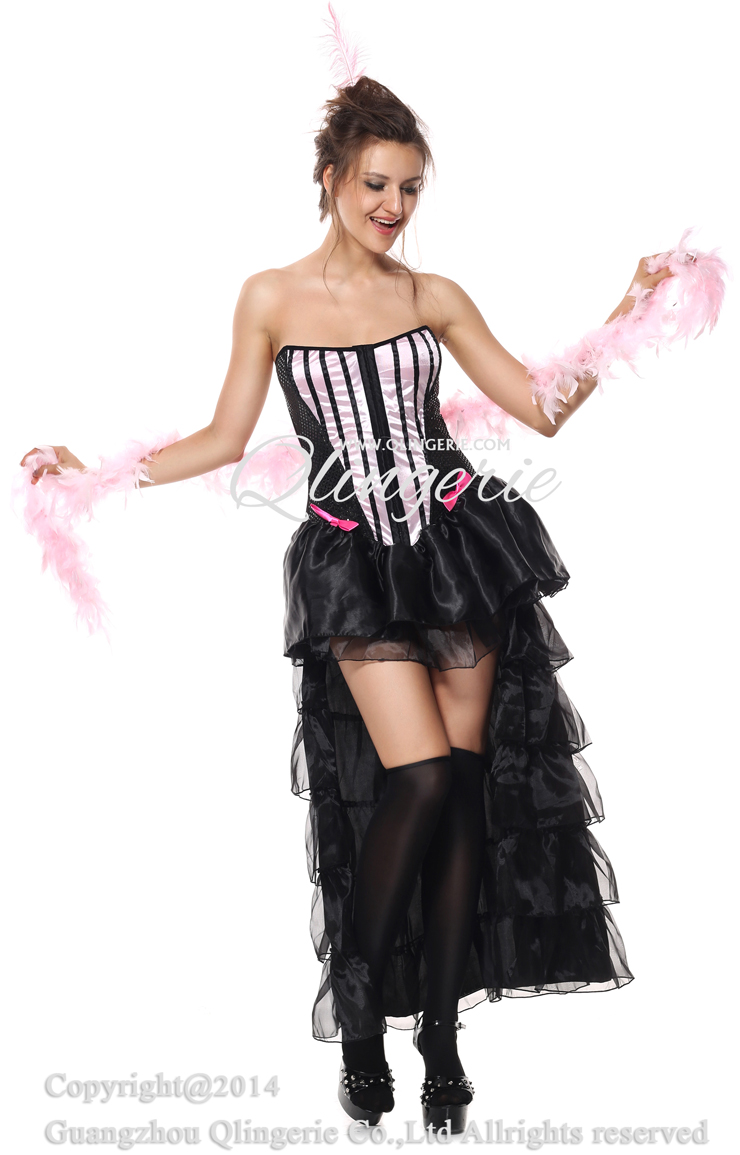 Naughty in paris costume pink burlesque costume adult can can