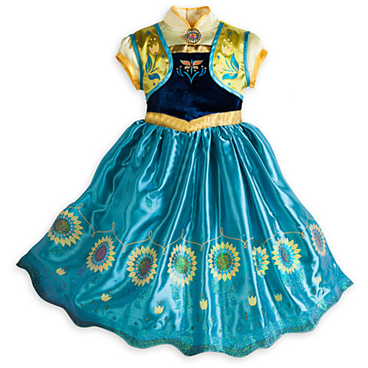 New Frozen Fever Anna Kid Princess Dress Costume N10346