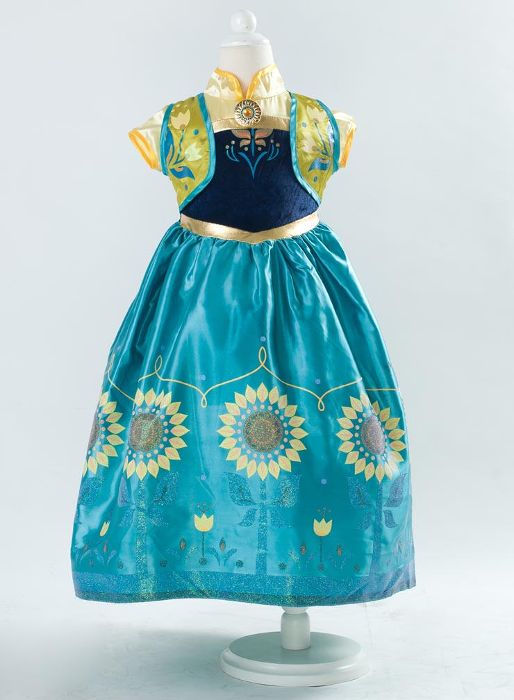 2015 New Frozen Girl Dress, Frozen Fever Kid Costume, Frozen Fever Anna Kid Costume, Cheap Girl Princess Dress, #N10346