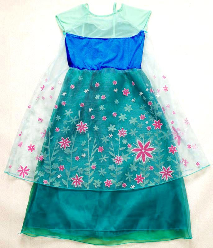 2015 New Frozen Girl Dress, Frozen Fever Kid Costume, Frozen Fever Elsa Kid Costume, Cheap Girl Princess Dress, #N10347