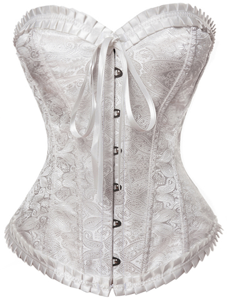 Floral Sweetheart Corset, Palace Butterfly Bow Lace Corset, Floral Jacquard Sweetheart Corset, #N7989