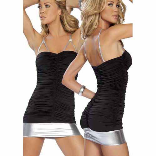 5e82b1e764d Sexy Black Stretchy Ruffle Figure Hugging Clubwear Bodycon Mini Dress N2369