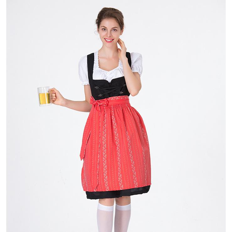 Traditional Bavarian Beer Girl Role Play Dress Adult Oktoberfest Costume N18311