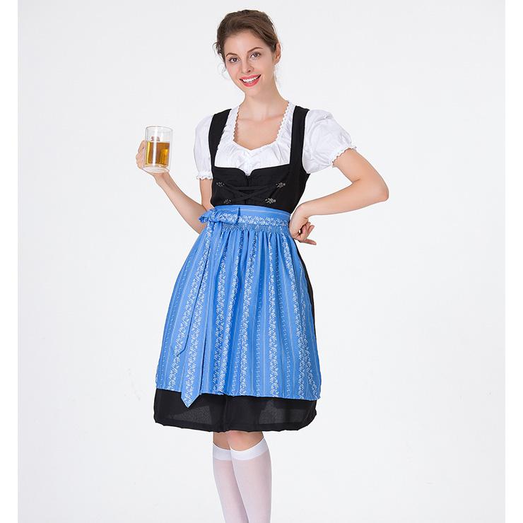 Traditional Bavarian Beer Girl Role Play Dress Adult Oktoberfest Costume N18312