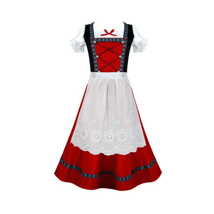 Women's Traditional Bavarian Beauty Oktoberfest Dress Adult Cosplay Costume N16142