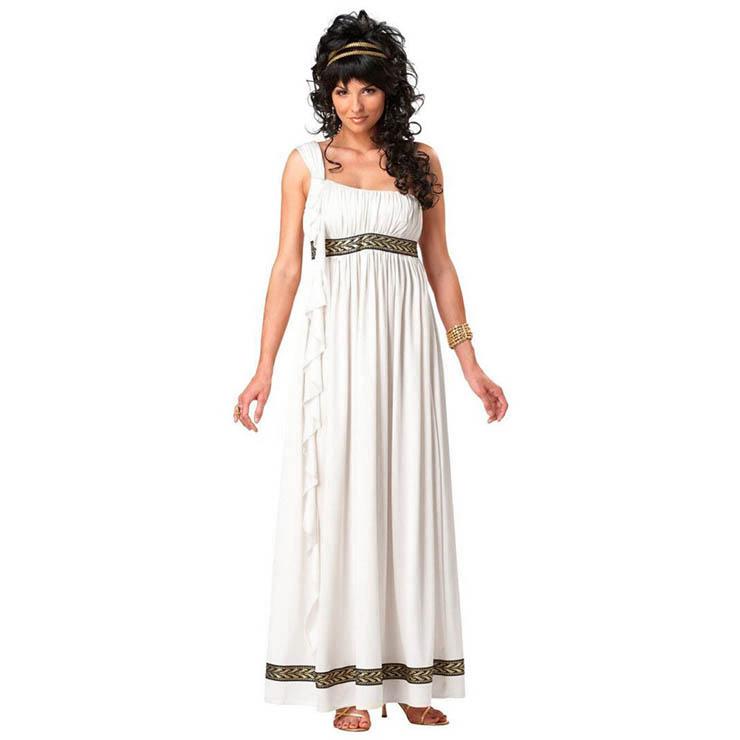 Beige Holy Greek Goddess Adult Cosplay Costume N17744