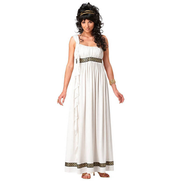 White Holy Greek Goddess Adult Cosplay Costume N17744