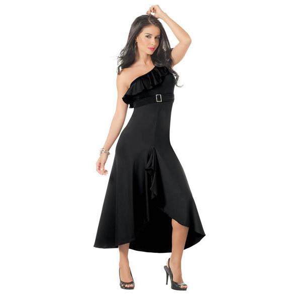 One Shoulder Maxi Gown D6023