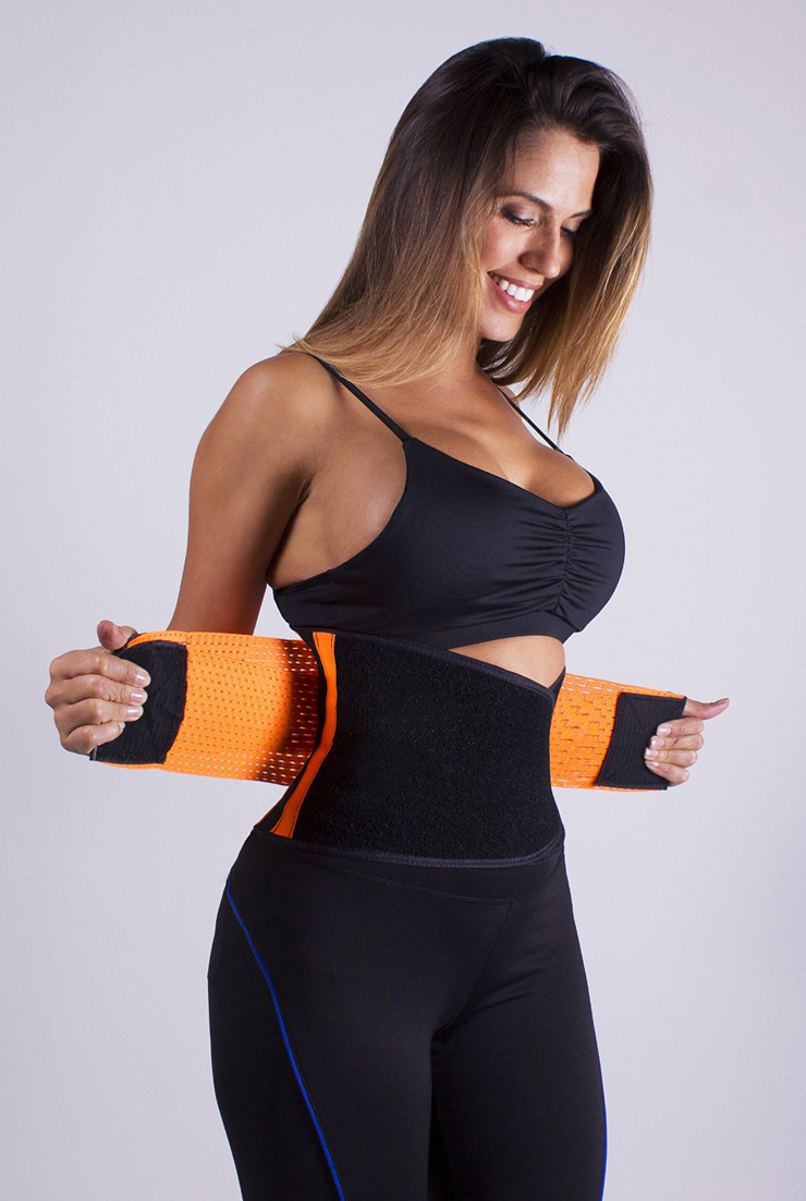f20ef98e92 Sport Gym Orange Waist Trainer Belt Body Shaper for Hourglass Shape N10961