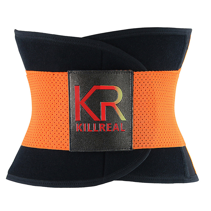 Workout Sport Gym Orange Waist Trainer Belt Body Shaper for Hourglass Shape N11021