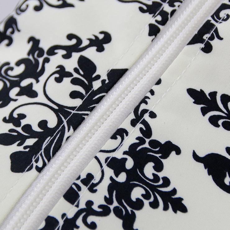 Organza and Floral Brocade Halter Corset, White-Black Organza and Floral Brocade Corset, Halter White-Black Floral Brocade Corset, #N5913