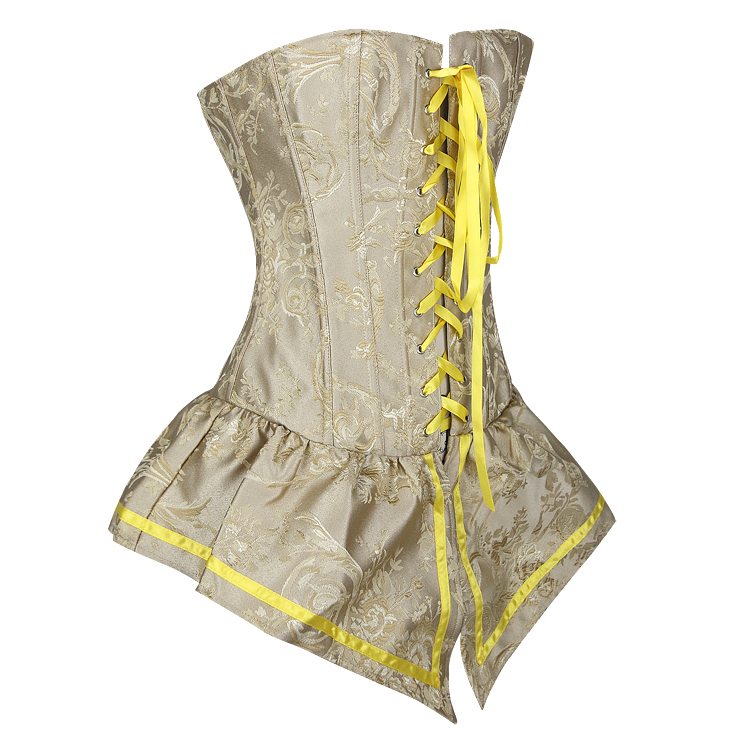 Retro Yellow Corset with Skirt, Women