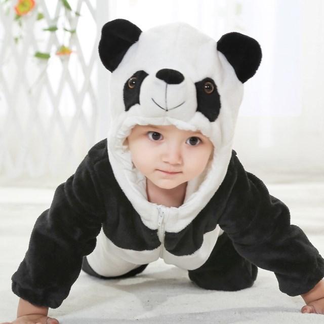 Baby Panda Romper Jumpsuit, Halloween Panda Costume Baby, Panda Climbing Clothes Baby, #N6267