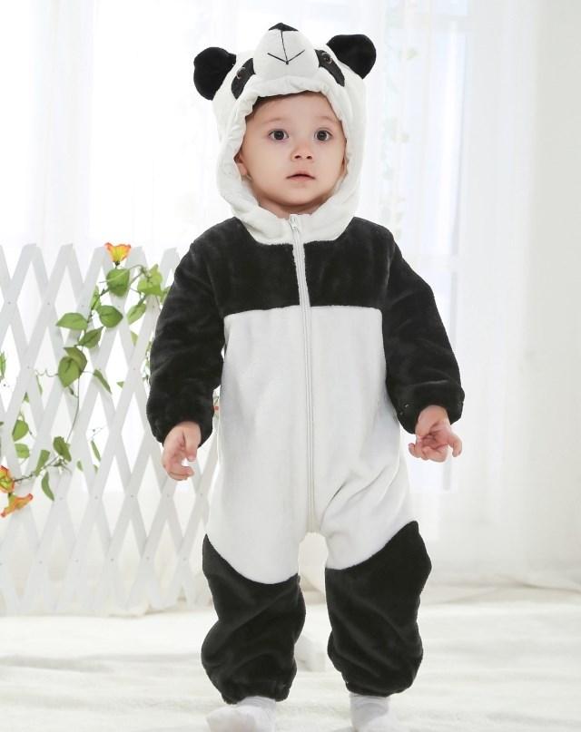 panda jumpsuit romper n6267. Black Bedroom Furniture Sets. Home Design Ideas