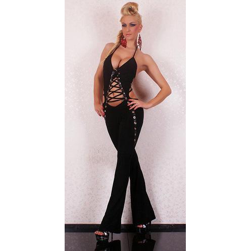 Party Black Jumpsuit N5907