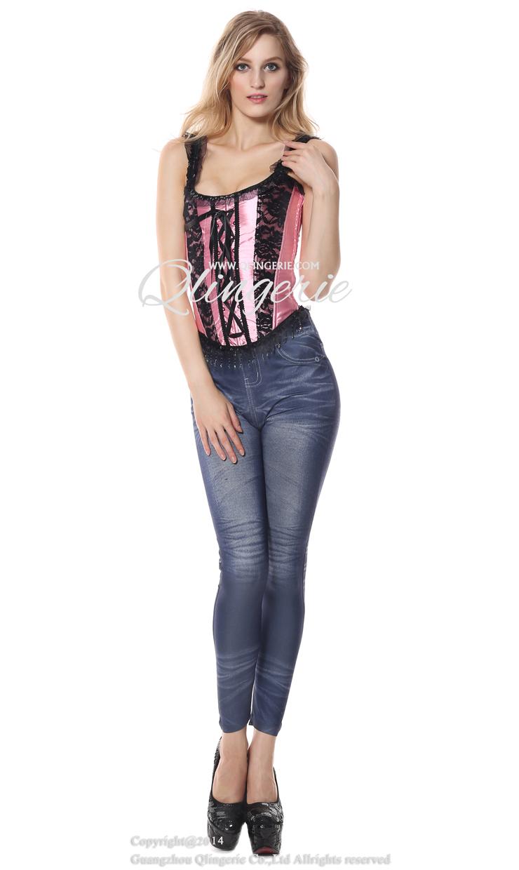 Pink Halter Corset, Halter Corset, Halter Lace Corset, #N4726