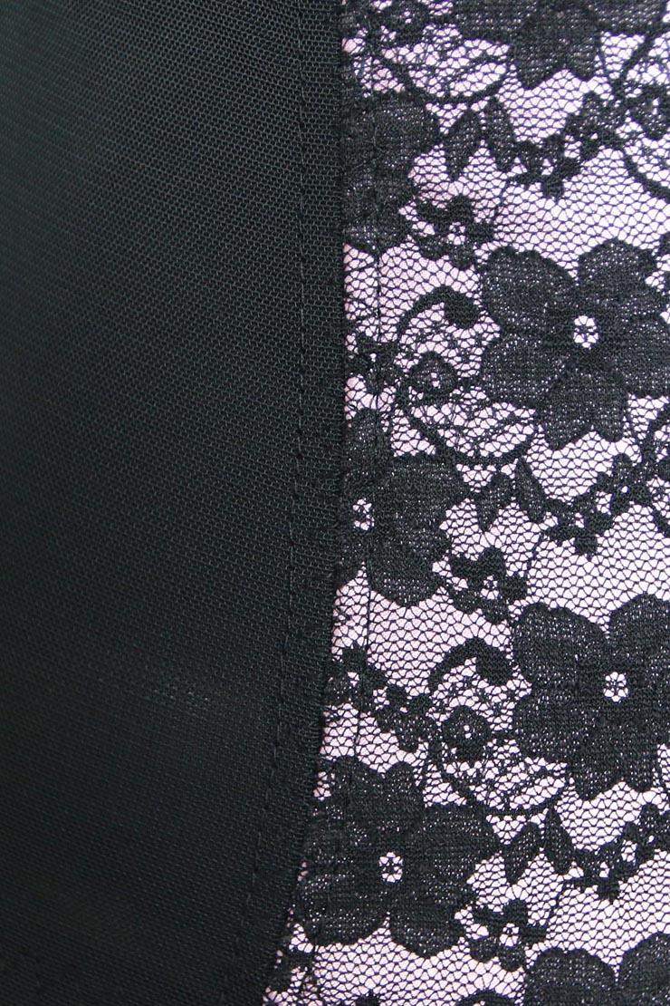 9 Steels Boned Bustier Corset, Cheap Pink Lace Bustier Corset, Women