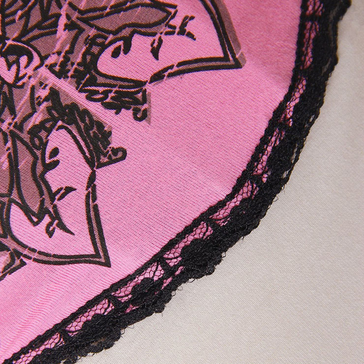 Pink Magic Printed Rhinestone Corset, sexy Bustier, Sexy Bustier Corsets, #N3009