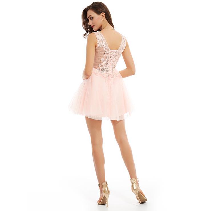 058e2744547 Sexy Homecoming Mini Dresses, Short Homecoming Dress Pink, Chiffon Party  Dresses, Pink Mini