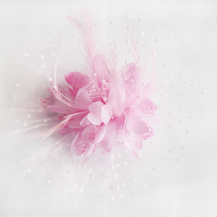 Pink flower hair accessory j7216 mightylinksfo
