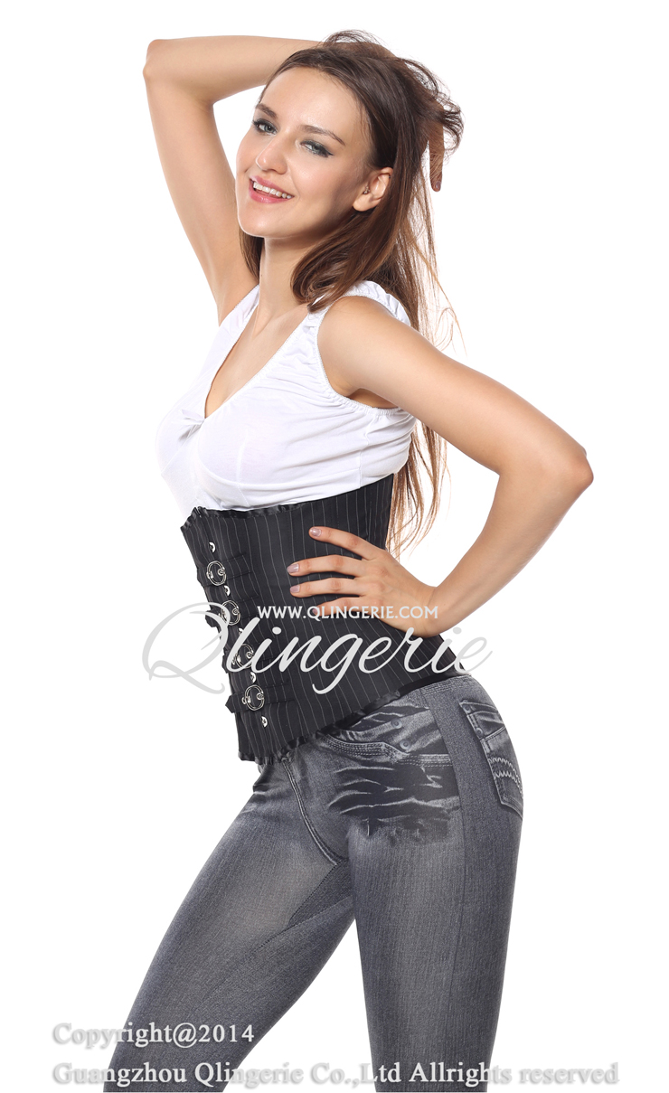 Pinstripe Underbust with Buckle closure, Buckle closure Pinstripe ... M1216