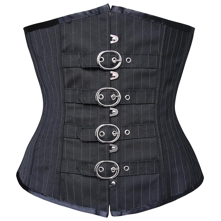 Pinstripe Underbust with Buckle closure N6184