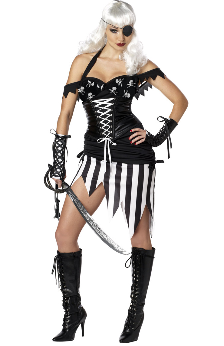 Deluxe Woolly Mammoth Costume, Sexy Pirate Mistress Costume, Dark Pirate Costume, Sexy Female Pirate, #N4623