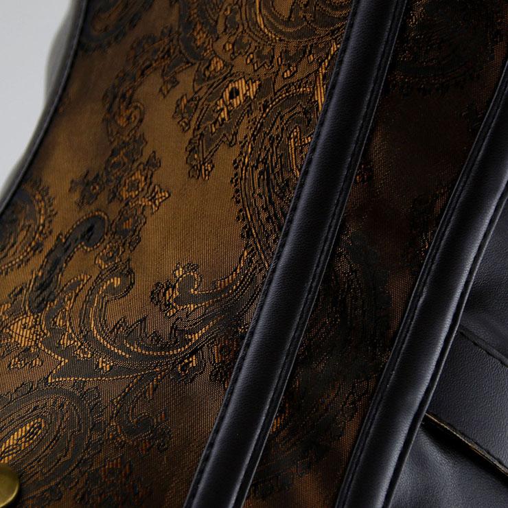 Steampunk Jacquard Vest Corset, Vintage Plastic Boned Vest Underbust Corset, Sexy Jacquard Vest Corset, Waist Cincher Vest Underbust Corset, #N16210