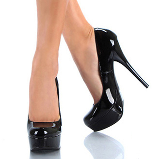 Platform High-heeled Pumps Black SWS12085