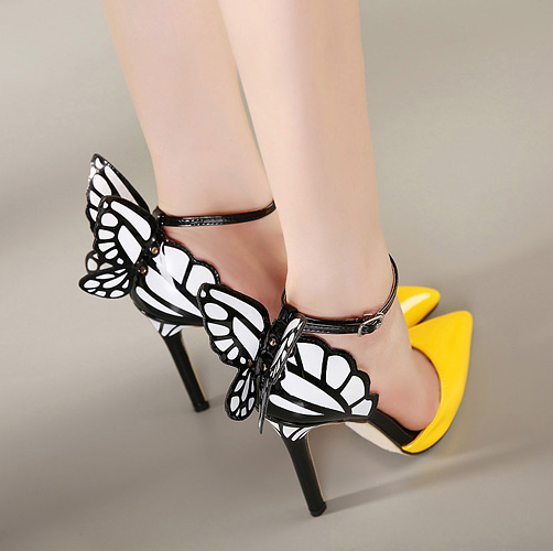 Pointed Toe Heels Butterfly Wing Shoes Sw20159