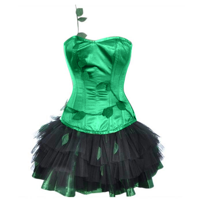 Poison Ivy Halloween Outfit with Black Petticoat N10751