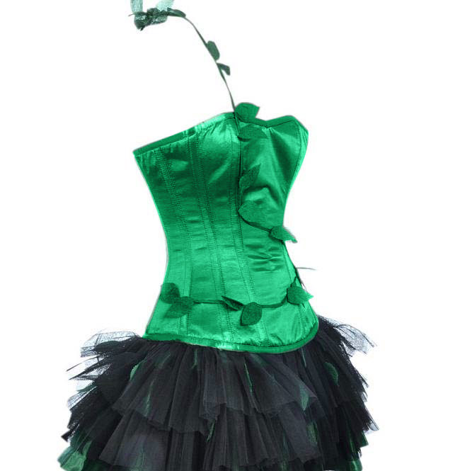 poison ivy halloween outfit with black petticoat n10751 - Halloween Petticoat