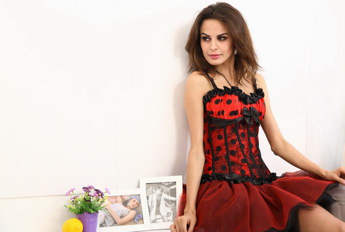 Satin & lace Corset, lace Corset, sexy corset, #CB1595