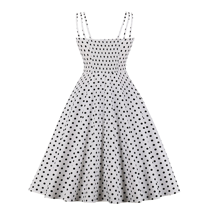 Lovely Polka Dots Mini Dress, Vintage Polka Dots Cocktail Party Dress, Fashion Casual Office Lady Dress, Sexy Tea Party Dress, Retro Party Dresses for Women 1960, Vintage Dresses 1950