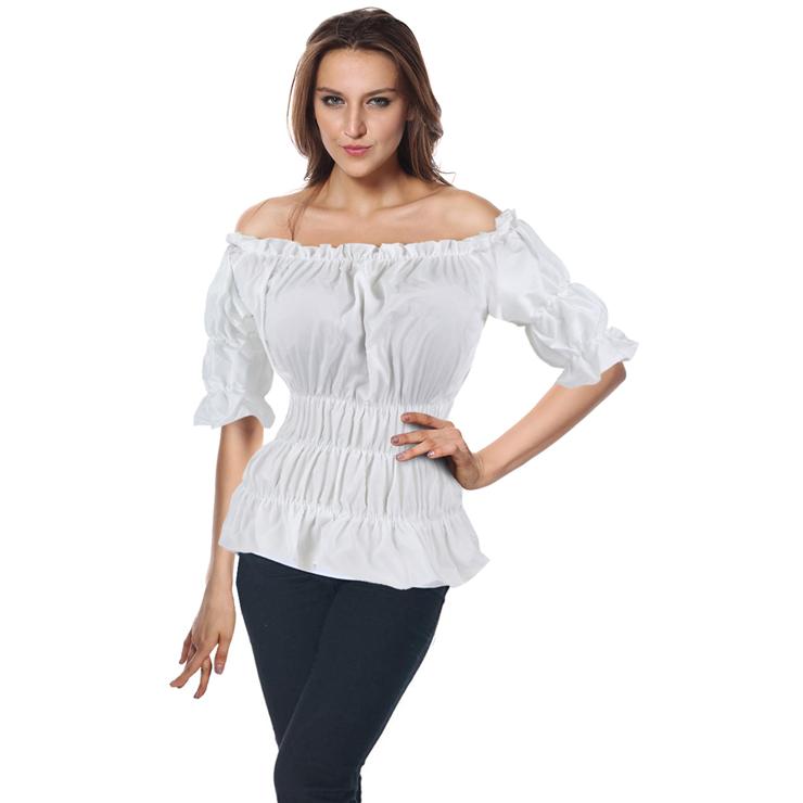 Popular Hot Sale White Cotton Shirt N9331