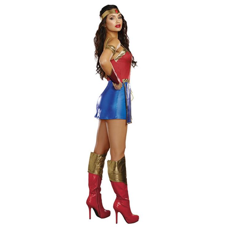 Power Of Justice Costume Costume, Sexy Heroine Costume, Elasticity Superhero Costume, #N12255