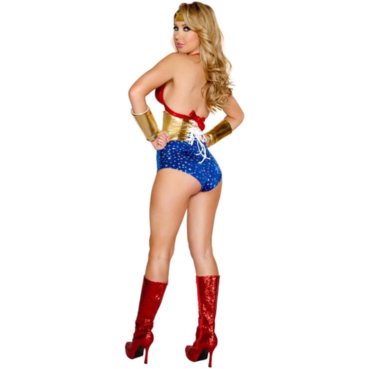Hero Costume for Women, Super Hero Costume, Sexy Wonder Woman Costume, Cosplay Women Heroine Costume,  #N14331