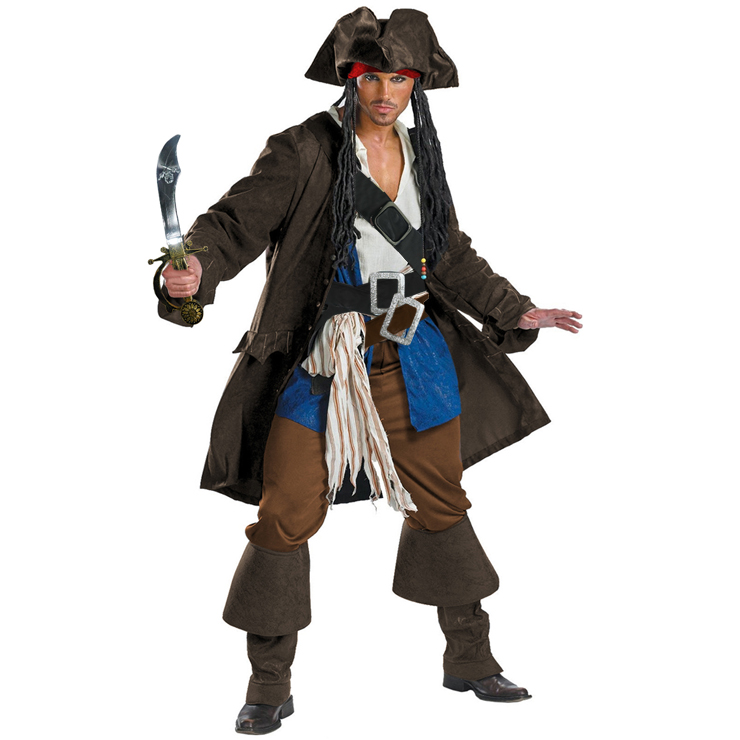 Premium Adult Captain Jack Sparrow Costume N4787