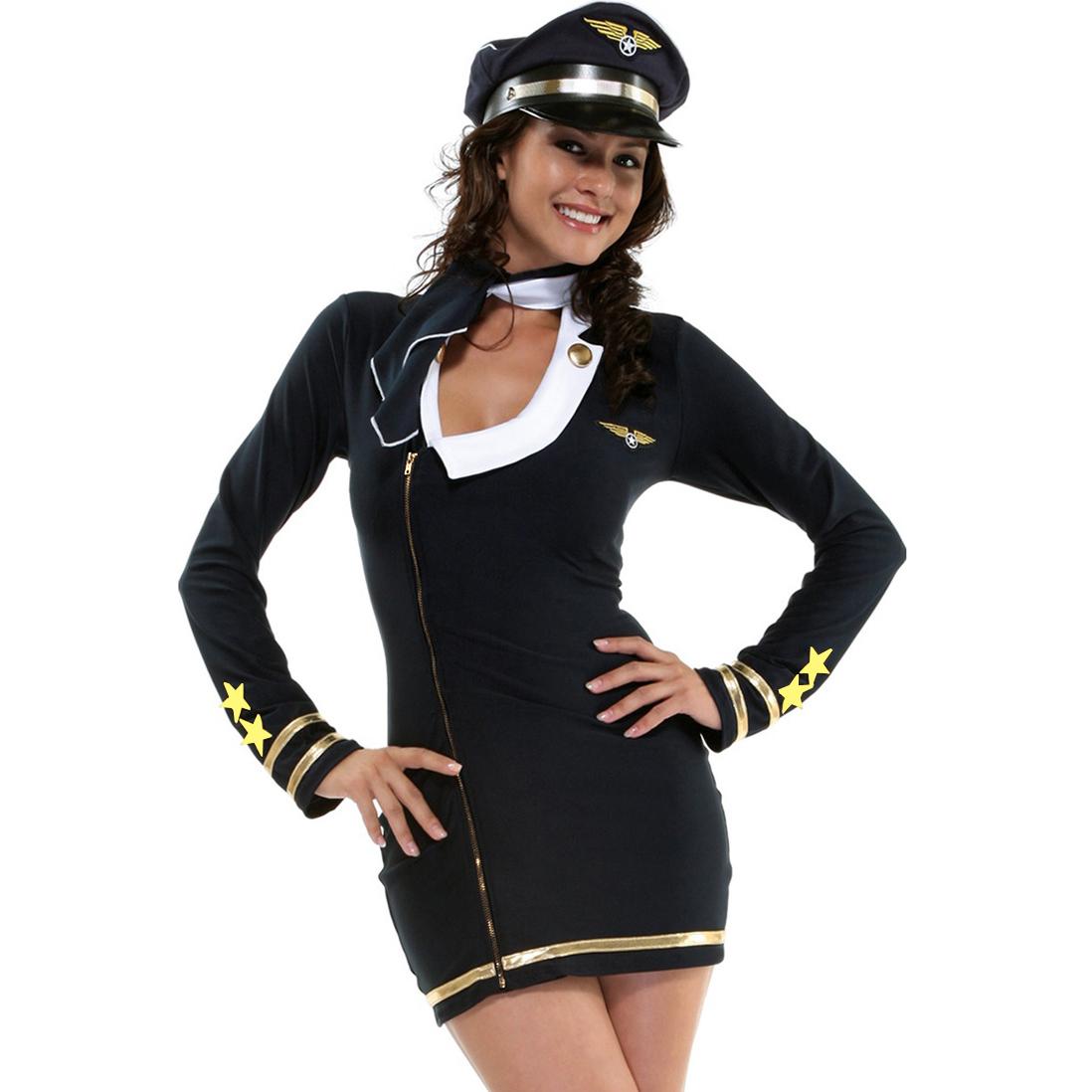 Pretty Pilot Costume M4155
