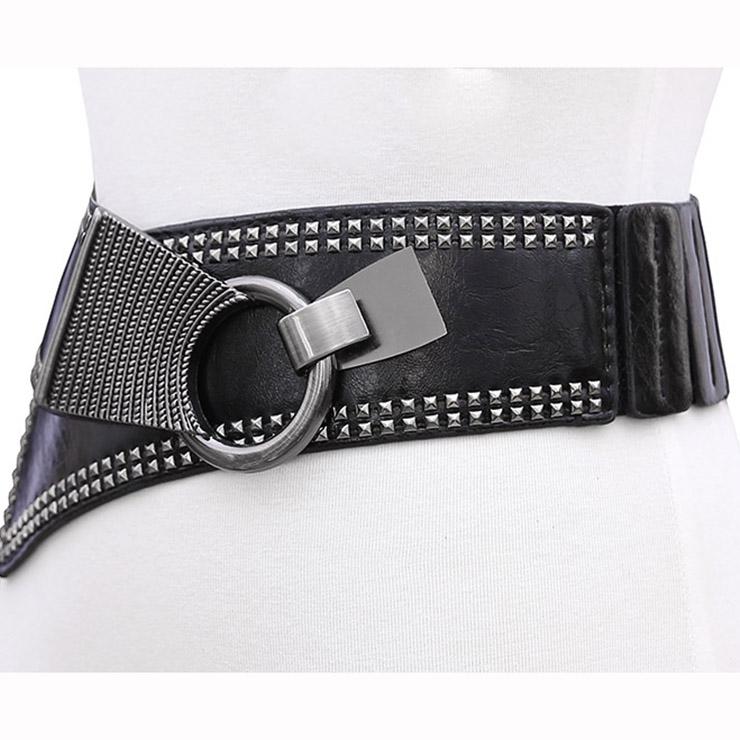 Tied Wasit Belt, High Waist Corset Cinch Belt, Vintage Wasit Belt, Waist Cincher Belt, Wide Waistband Cinch Belt, Elastic Waist Belt, Waistband For Women, Punk Waist Belt. #N14835