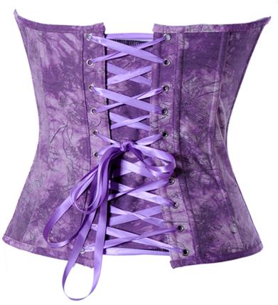 Denim Corset, Purple Floral Demin Corset, Floral Demin Corset, #N4466