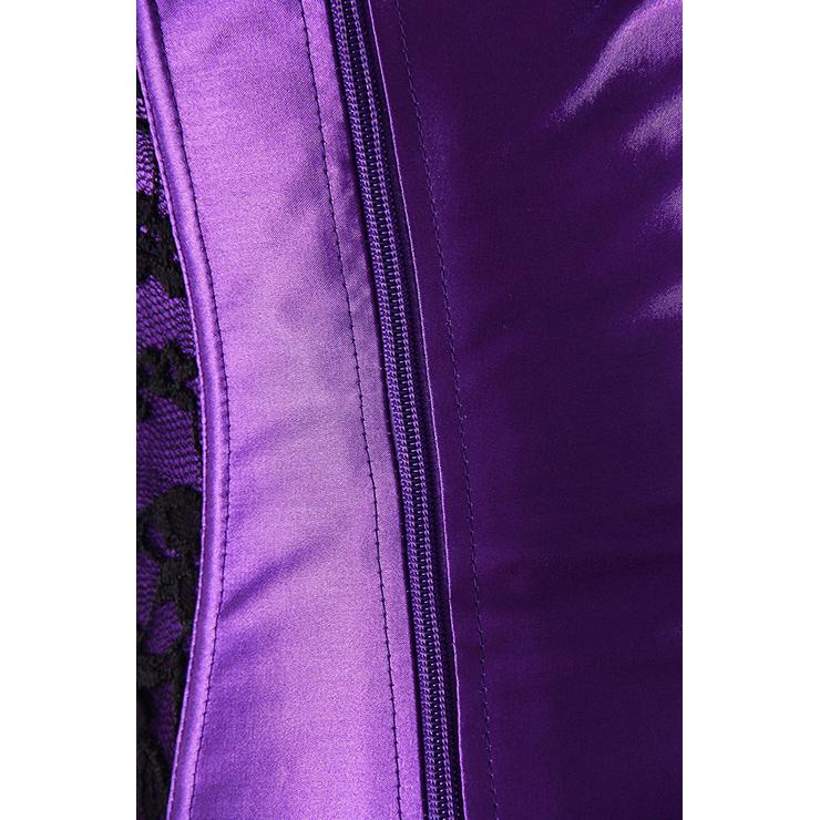 Purple Halter Corset, Halter Corset, Halter Lace Corset, #N4725