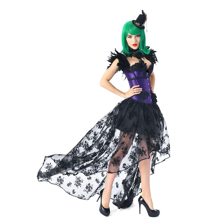Fashion Purple Corset Set, Strapless Corset Set,Plastic Bones Overbust Corset Set, Cheap Outerwear Corset Set, Purple Party Corset Set,Women