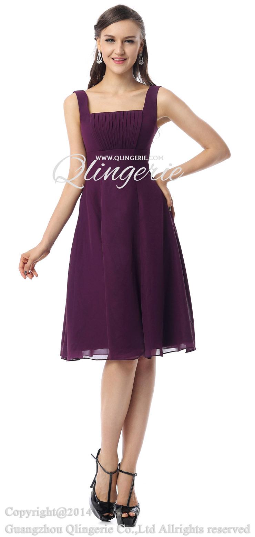 2018 vintage purple aline straps square neckline empire