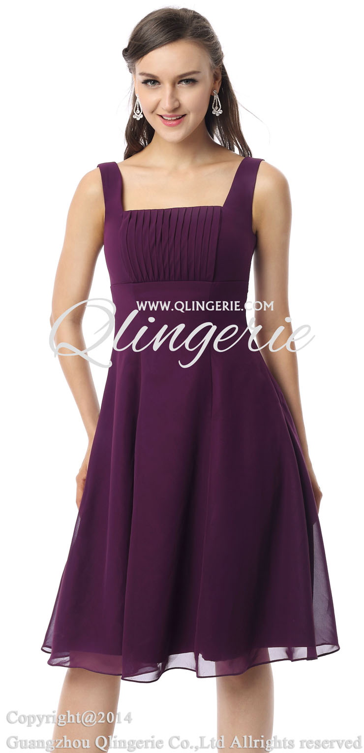 Purple Homecoming Dresses With Straps