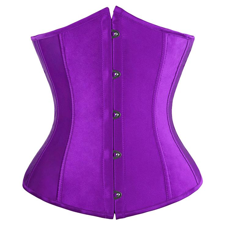 Underbust Corsets, Purple satin corset, Purple Underbust Corset , #N2815