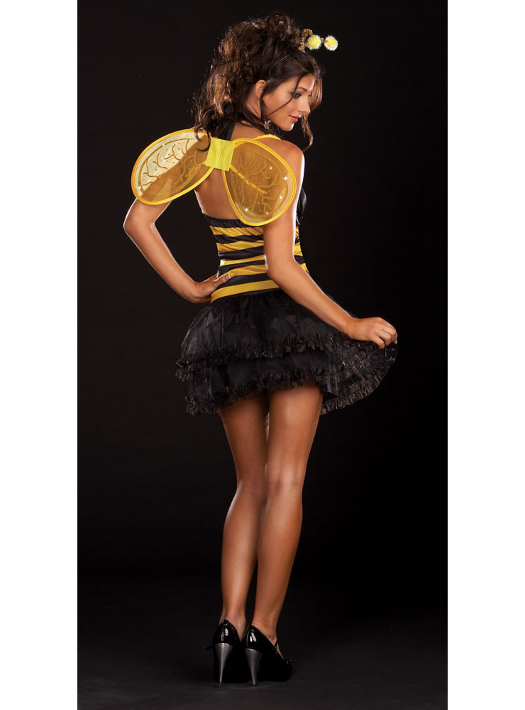 Black and Yellow Striped Halter Bee Costume, Miss Bee Delightful Costume, Buzzy Bee Costume, #N8537